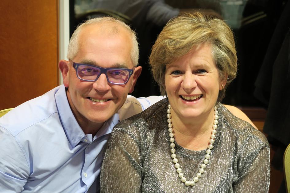 El delegado en Ourense del Colegio, José Luis Rodríguez, y su esposa Pilar Novoa